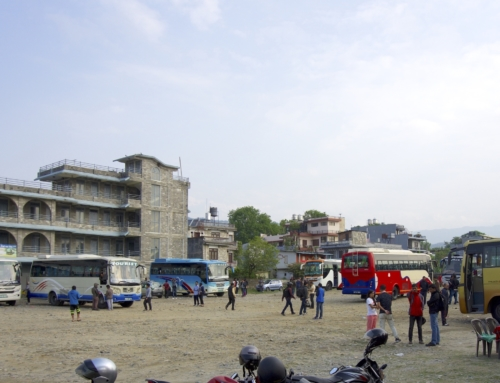 Fra Pokhara til Lumbini med buss i Nepal